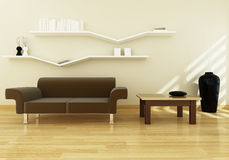 Living room modern design Stock Photos