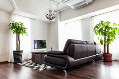 Home interior design. Living room in a modern home Royalty Free Stock Photo