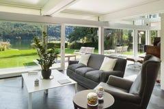 Living room of a modern house Stock Photos
