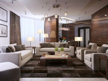 Living room modern interior Stock Images
