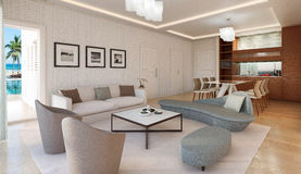 Living room modern interior Royalty Free Stock Image