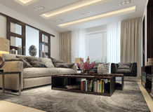 Living room modern style Royalty Free Stock Photo