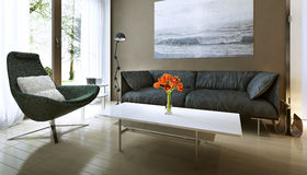 Living room modern style Royalty Free Stock Images