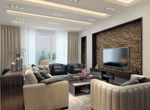 Living room modern style Stock Photo