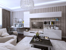 Living room in a modern style Royalty Free Stock Image