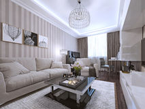 Living room in a modern style Royalty Free Stock Photo