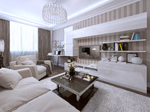 Living room in a modern style Royalty Free Stock Photography