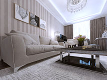 Living room in a modern style Stock Photos