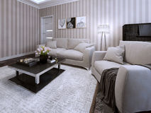 Living room in a modern style Royalty Free Stock Images