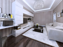 Living room in a modern style. 3d visualization Stock Image