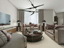 Living room modern Style Stock Images
