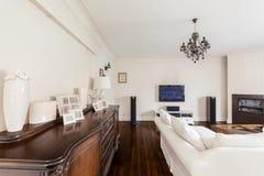 Living room of multigenerational family Stock Image