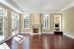 Living room in new construction home Stock Photography