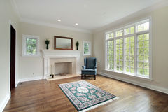 Living room in new construction home Royalty Free Stock Photos