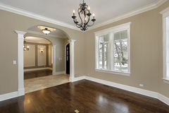Living room in new construction home Royalty Free Stock Image