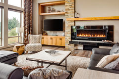 Living Room in New Luxury Home Royalty Free Stock Image