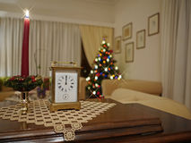 Living room on new years eve Royalty Free Stock Photo