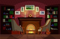 Free Living Room Of Sherlock Holmes Royalty Free Stock Images - 130790509