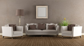 Living room in old style Royalty Free Stock Images