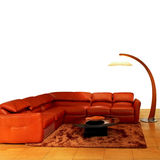 Living room orange Stock Photos