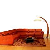 Living room orange Stock Photos