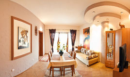 Living room panorama Stock Images