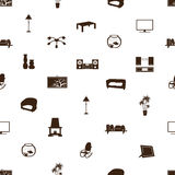 Living room pattern eps10 Royalty Free Stock Photography