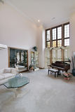 Living room with piano royalty free stock image