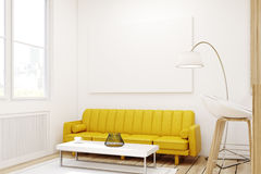 Living room with picture in a studio, close up Royalty Free Stock Images