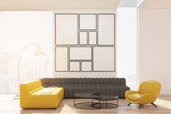 Living room with poster gallery Stock Photography