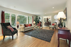 Living room in remodeled home Royalty Free Stock Photo