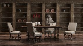 Living Room Render Royalty Free Stock Image