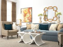 Living Room Render Royalty Free Stock Photography