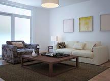 Living room scandinavian style Stock Images