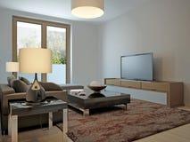 Living room scandinavian style Royalty Free Stock Image