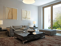 Living room scandinavian style Royalty Free Stock Image