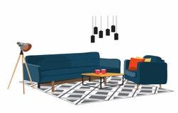 Living room scene . Stock Photos