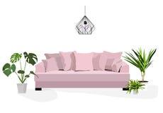 Living room scene Royalty Free Stock Photos
