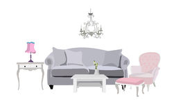 Living room scene . Royalty Free Stock Photography