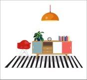Living room scene, vector, Stock Photo