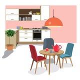 Living room scene, vector, Stock Image