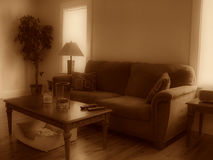 Living room in sepia Stock Photography