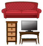 A living room set Royalty Free Stock Images