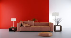 Living Room Setting Royalty Free Stock Photo