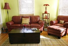 Living room setting Royalty Free Stock Photography