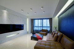 Living room sofa Royalty Free Stock Images