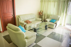Living room with sofa and armchairs Royalty Free Stock Photos