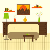 Living room with sofa and chest of drawers Royalty Free Stock Photo