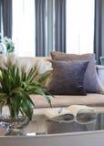 Living room sofa Home interior decoration Stock Photo