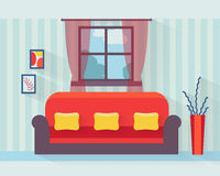 Living room with sofa Royalty Free Stock Image